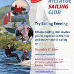 Try Sailing Evening Thursday 3rd May